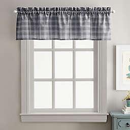 Curtainworks Lodge Plaid Window Valance in Grey/White