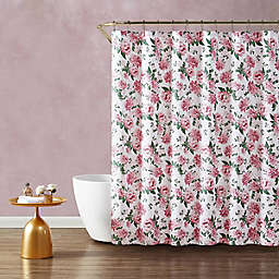 Blooming Roses Pink Shower Curtain