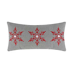 Levtex Home Patchwork Nights Snowflake Oblong Throw Pillow in Grey