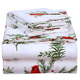 EnvioHome™ Cardinal Printed Flannel Sheet Set