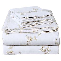 EnvioHome Blossom Flannel Sheet Set