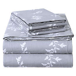 EnvioHome Floral Flannel Sheet Set