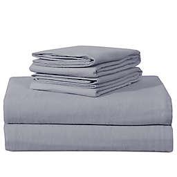 EnvioHome™ Solid Flannel Sheet Set