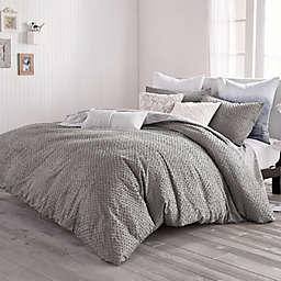Peri Home Dot Fringe 3-Piece Duvet Cover Set in Light Grey