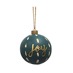 Bee & Willow™ 3.5-Inch Joy Wooden Christmas Ornament in Green