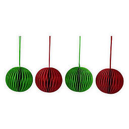 H for Happy™ 5.5-Inch Paper Ball Ornaments (Set of 4)