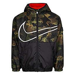 Nike® Fleece Lined Windbreaker in Camo
