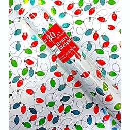 Christmas Lights Print 30 sq. ft. Heavyweight Christmas Gift Wrap