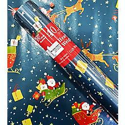 Santa's Sleigh Print 40 sq. ft. Heavyweight Christmas Gift Wrap