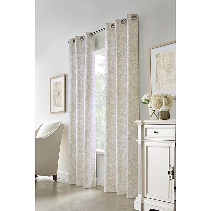 Alternate image 1 for Commonwealth Home Fashions Conrad Grommet Room Darkening Window Curtain Panel (Single)
