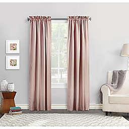 Commonwealth Home Fashions Ticking Stripe Window Curtain  (Set of 2)
