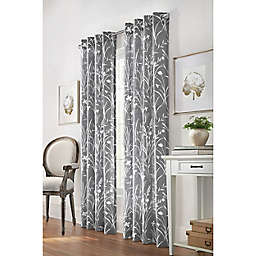 Commonwealth Home Fashions Bradford 95-Inch Grommet Window Curtain Panel in Grey