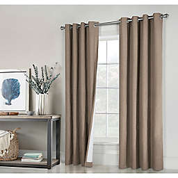 Commonwealth Home Fashions ThermaPlus Ventura 63-Inch Grommet Curtain in Pebble (Set of 2)