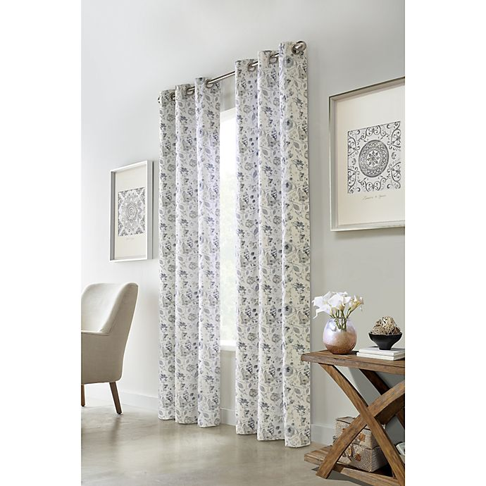 Alternate image 1 for Moody Floral Grommet Light Filtering Window Curtain Panels (Set of 2)