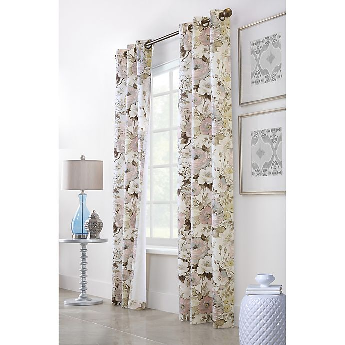 Alternate image 1 for Commonwealth Home Fashions Belladonna 160-Inch x 84-Inch Grommet Window Curtain  (Set of 2)