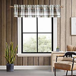 Eddie Bauer® Alder Plaid Grey Multi Window Valance