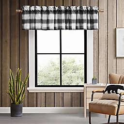 Eddie Bauer® Canyon Plaid Window Valance in White/Black