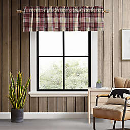Eddie Bauer® Edgewood Plaid Flag Red Window Valance