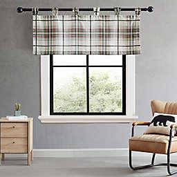 Eddie Bauer® Alder Plaid Tab Top Window Valance