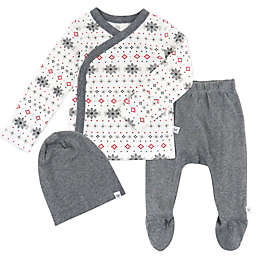 Honest® 3-Piece Fair Isle Organic Cotton Top, Pant, and Beanie Set in Charcoal