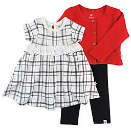 The Honest Company® 3-Piece Dress, Cardigan and Legging Set in Red