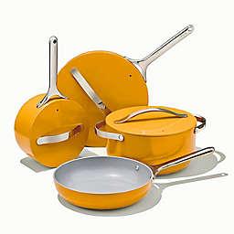 Caraway Ceramic Nonstick Aluminum 12-Piece Cookware Set in Marigold