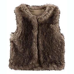 carter's® Size 4T Faux Fur Vest in Brown
