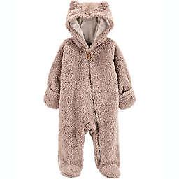 carter's® Newborn Sherpa Hooded Pram in Grey