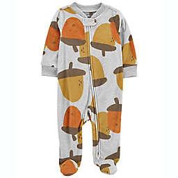 carter's® Newborn Acorns Zip-Up Fleece Sleep & Play in Ivory