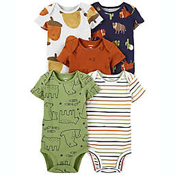carter's® Size 18M 5-Pack Short Sleeve Bodysuits in Acorn