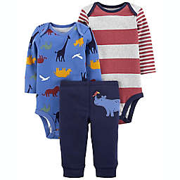 carter's® Size 6M 3-Piece Hippo Outfit Set in Blue