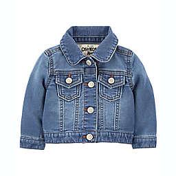 OshKosh B'gosh® Size 6M Classic Knit Denim Jacket in Blue Wash
