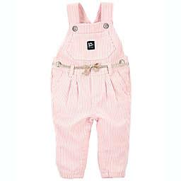 Oshkosh B'gosh® Hickory Stripe Stretchy Overalls in Pink