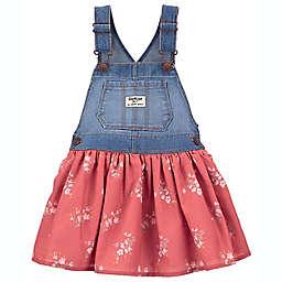 OshKosh B'gosh® Floral Knit Denim Jumper in Blue Wash/Spice