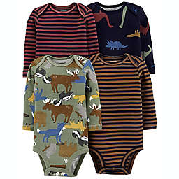 carter's® Size 6M 4-Pack Long Sleeve Original Bodysuits in Navy