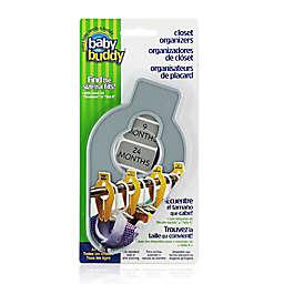Baby Buddy 5-Piece Size-It Closet Organizer Set in Grey