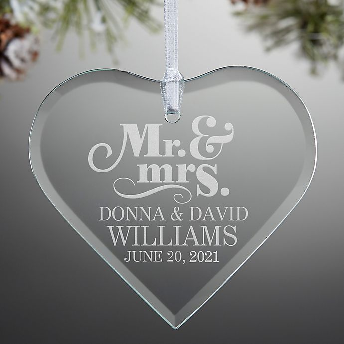 Alternate image 1 for The Happy Couple Personalized Heart Ornament