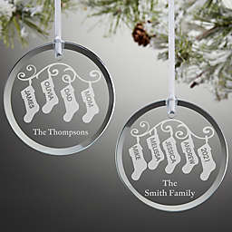 Stocking Family Christmas Ornament