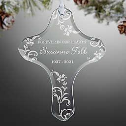In Loving Memory Memorial Cross Christmas Ornament