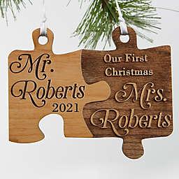 Mr. & Mrs. Wedding Christmas Ornament