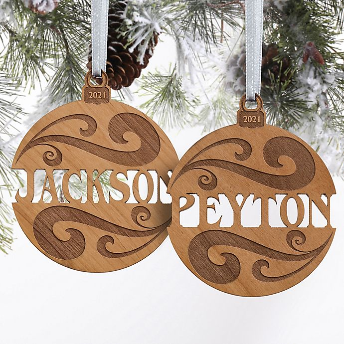 Alternate image 1 for You Name It Wood Christmas Ornament