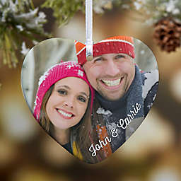 Precious Photo Heart 1-Sided Christmas Ornament
