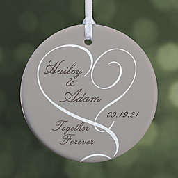 Our Engagement  1-Sided Glossy Christmas Ornament