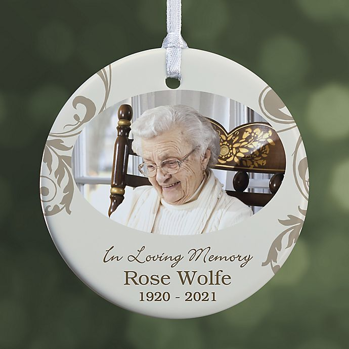 Alternate image 1 for In Loving Memory Photo Memorial Christmas Ornament Collection