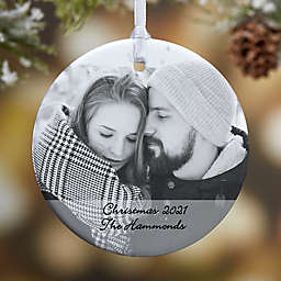 Photo Sentiments 1-Sided Glossy Christmas Ornament