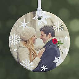 Snowflake 1-Sided Glossy Photo Christmas Ornament