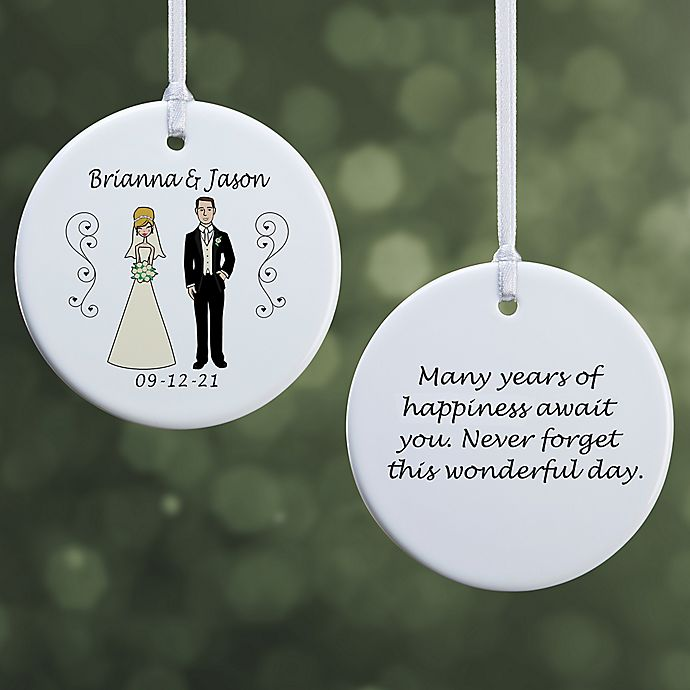 Alternate image 1 for Wedding Party Characters Christmas Ornament Collection