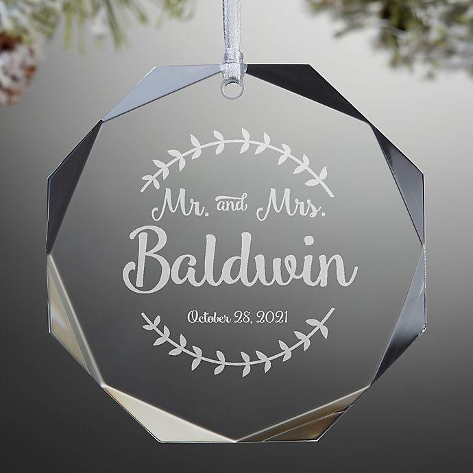 Alternate image 1 for Mr. & Mrs. Premium Engraved Wedding Christmas Ornament