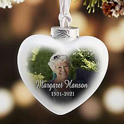 Memorial Photo Deluxe Heart Christmas Ornament