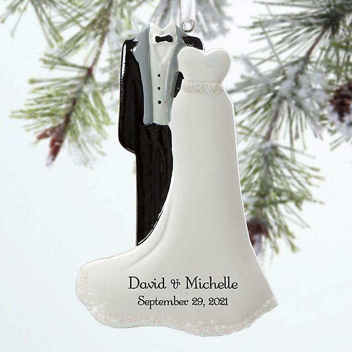Alternate image 1 for Bride & Groom Christmas Ornament